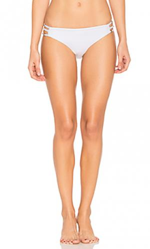 Плавки бикини со сплошными полосками по бокам juliet solids Ella Moss. Цвет: белый