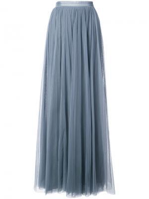 Long pleated skirt Needle & Thread. Цвет: синий