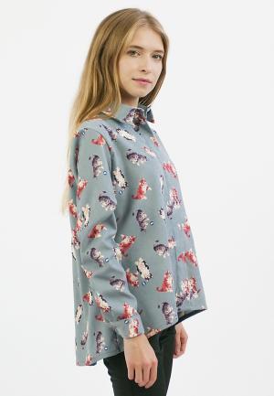 Рубашка Monoroom. Цвет: голубой