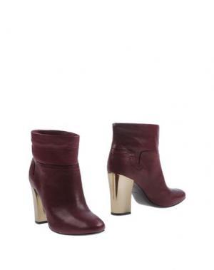 Полусапоги и высокие ботинки AERIN. Цвет: баклажанный