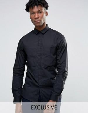 Noak Рубашка навыпуск с большим карманом. Цвет: черный