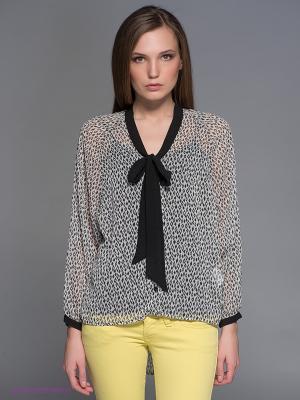 Блузка Fornarina. Цвет: серый, черный