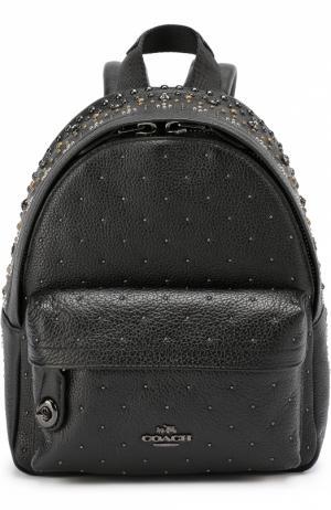 Рюкзак Mini Campus с заклепками Coach. Цвет: черный