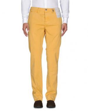 Повседневные брюки TRAMAROSSA. Цвет: желтый
