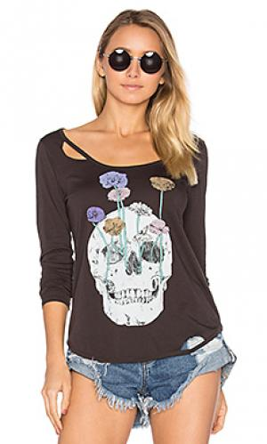 Футболка garden skull Chaser. Цвет: черный