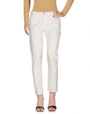 Повседневные брюки EDWIN. Цвет: белый