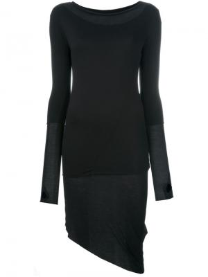Асимметричное платье Thom Krom. Цвет: чёрный