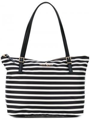 Striped shoulder bag Kate Spade. Цвет: чёрный