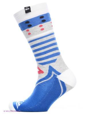 Носки Quiksilver. Цвет: синий, белый