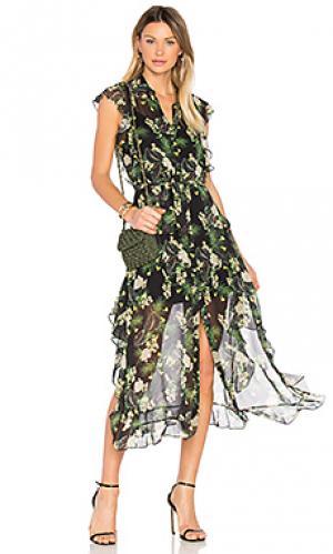 Платье с принтом ruth Marissa Webb. Цвет: черный