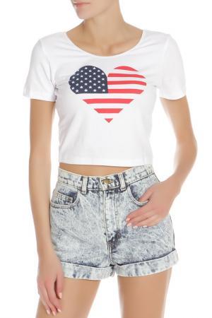Топ American Apparel. Цвет: white