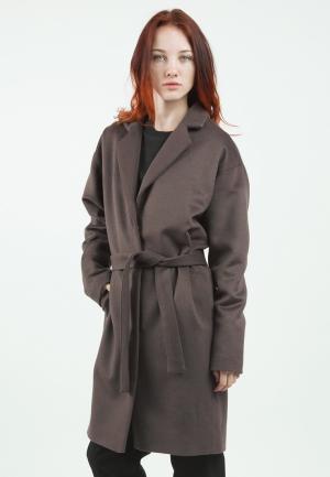 Пальто Monoroom. Цвет: коричневый