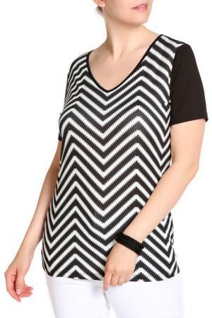 Блуза SARAH KERN. Цвет: черный, белый