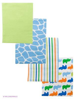 Комплект для новорожденных Luvable Friends. Цвет: серый, голубой, белый