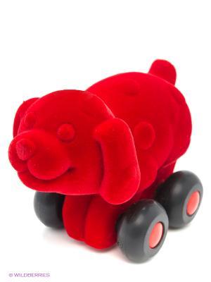 Собака Rubbabu. Цвет: красный