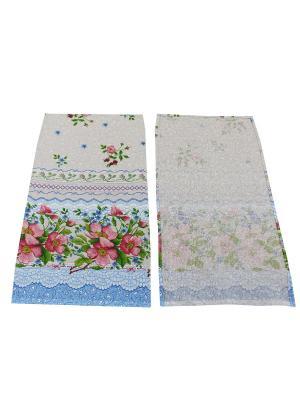 Набор полотенец Рогожка Римейн. Цвет: голубой, розовый