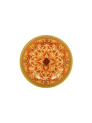 Тарелка круглая  Шахерезад Elff Ceramics. Цвет: красный, желтый