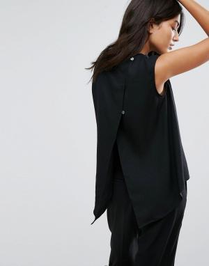 YMC Топ с открытой спиной. Цвет: черный