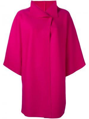 Свободное пальто Harris Wharf London. Цвет: розовый и фиолетовый