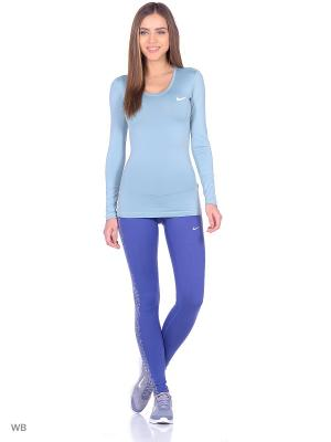 Леггинсы W NK PWR EPIC RUN FLSH TGHT Nike. Цвет: синий, фиолетовый