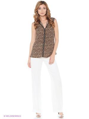 Блузка ZARINA. Цвет: коричневый