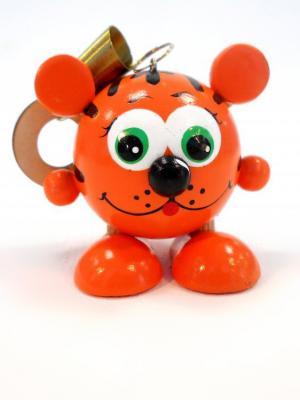 Игрушка подвеска на пружине - Тигрёнок Taowa. Цвет: оранжевый