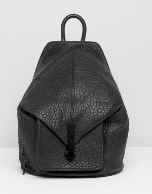 Kendall + Kylie Кожаный рюкзак Koenji. Цвет: черный