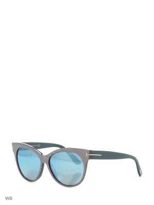 Солнцезащитные очки FT 0330 89X Tom Ford. Цвет: фиолетовый, бирюзовый