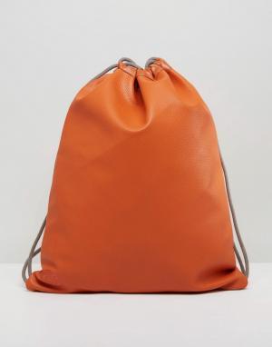 Mi-Pac Темно-оранжевый рюкзак на шнурке эксклюзивно для. Цвет: оранжевый