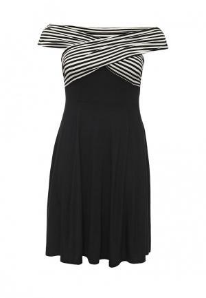 Платье Just Joan. Цвет: черный