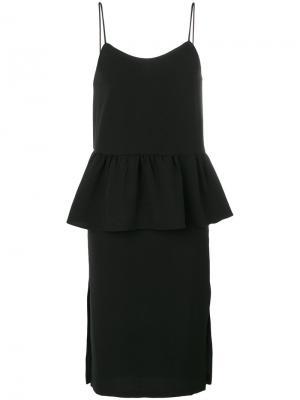 Flared waist shift dress Ganni. Цвет: чёрный