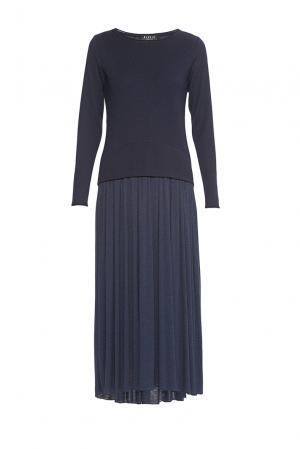 Платье из шерсти 179769 Baroni. Цвет: синий