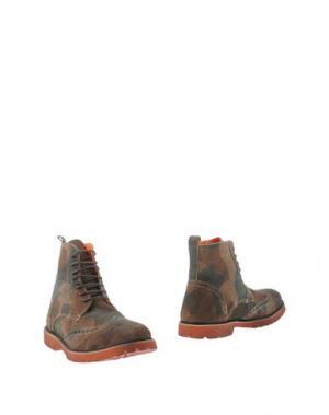 Полусапоги и высокие ботинки GABARDINE. Цвет: зеленый-милитари