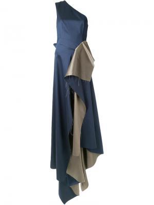 Платье Couture No.4 Yang Li. Цвет: синий