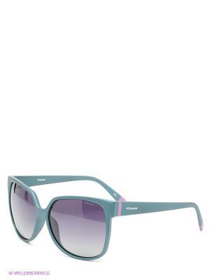 Солнцезащитные очки Polaroid. Цвет: зеленый, серый