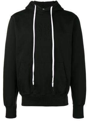 Game printed hoodie Liam Hodges. Цвет: чёрный