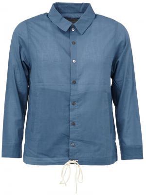 Джинсовая рубашка на резинке By Walid. Цвет: синий