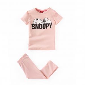 Пижама корсар с рисунком, 2-12 лет SNOOPY. Цвет: светло-розовый/ розовый