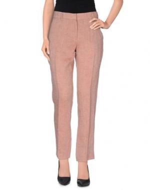 Повседневные брюки NIU'. Цвет: баклажанный