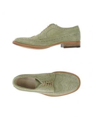 Обувь на шнурках 01000010 BY BOCCACCINI. Цвет: светло-зеленый