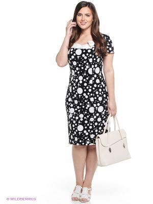 Платье Alego. Цвет: черный, белый