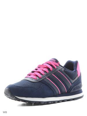 Кроссовки 10K W Adidas. Цвет: темно-синий, фуксия