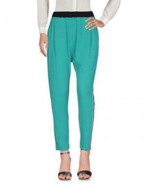 Повседневные брюки HAPPINESS. Цвет: зеленый