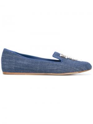 Декорированные джинсовые слиперы Le Silla. Цвет: синий