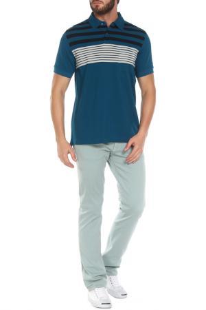 Рубашка-поло Z Zegna. Цвет: морская волна