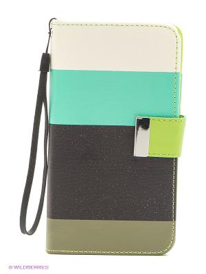 Чехол для Note3 WB. Цвет: зеленый, белый