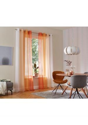 Гардина Valverde, 2 штуки MY HOME. Цвет: оранжевый, синий