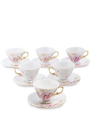 Чайный н-р на 6 перс. Фиор де Парадис (Pavone) Pavone. Цвет: белый