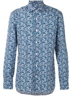 Рубашка с принтом пейсли Barba. Цвет: синий