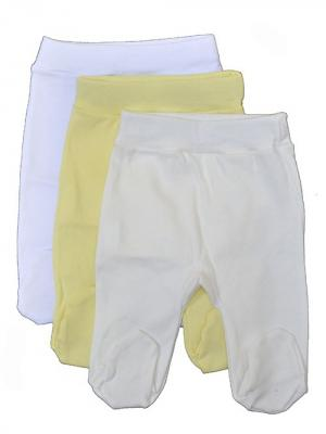 Ползунки, 3 шт АЙАС. Цвет: белый, молочный, желтый